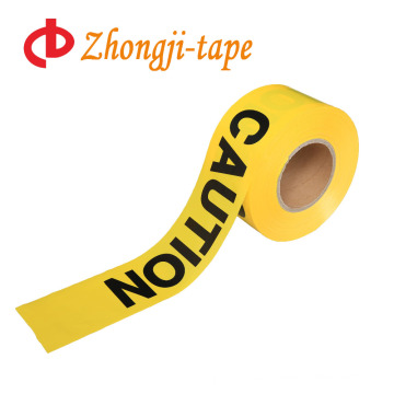 Hot sales non adhesive yellow pe caution tape