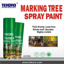 Peinture de marquage d'aérosol, Peinture de marquage d'arbres et de registres, Peinture de marquage en bois, Peinture de marquage forestier
