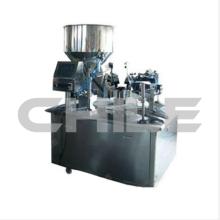 Полуавтоматическая машина для наполнения металлических трубок пастой