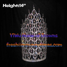14inch AB Clear Diamond Pageant Big Crowns