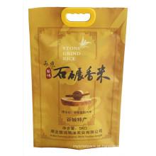 Malote de arroz de empacotamento do saco plástico do arroz com punho