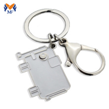 Metal elephant key ring keychain