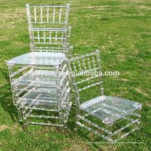 PC exterior claro Resina Chiavari silla de boda con cojín