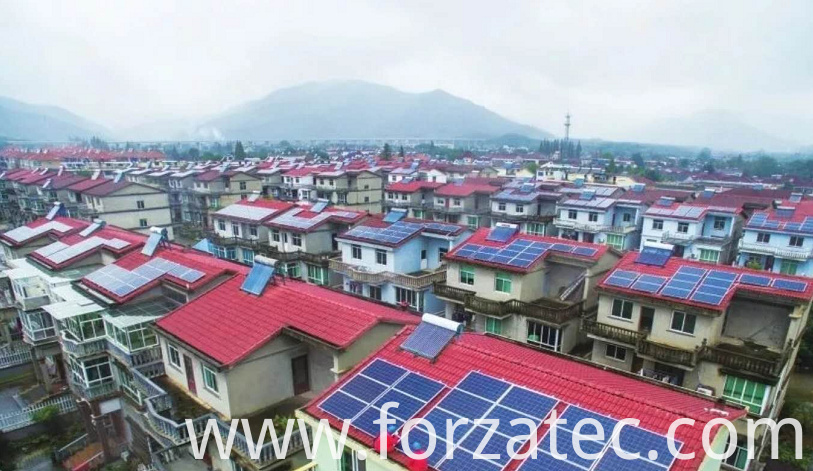 solar pv system of poly panel