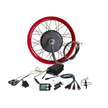 Free Shipping 19inch 72V 5000W electric bicycle motor electric bike conversion kit with colorful wheel