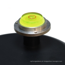 Mini nível de bolha circular com base de metal