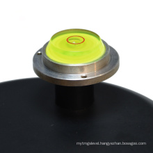 mini circular bubble level with metal base