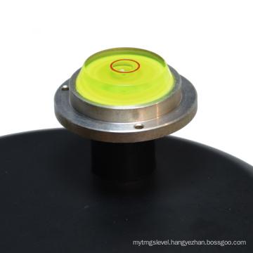 mini circular bubble level with metal base