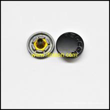 Bouton-pression avec Logo personnalisé en Semi couleur noire