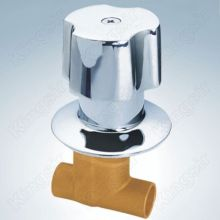 Válvula de chuveiro de bronze com Flange de zinco e botão de solda extremidades