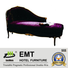 Solid Wood Chaise Bench Hotel Bedroom Lounge Sofa (EMT-LC17)