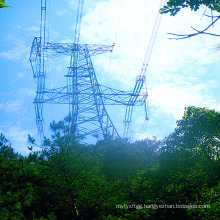500 Kv Single Circuit Corner Iron Power Transmission Steel Tower