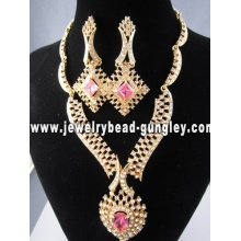 2012 fashion jewelry set gold plated