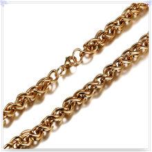 Joyería de moda collar de moda cadena de acero inoxidable (sh044)