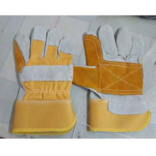 Safety Patched Palm Cow Split Leather Working Gloves