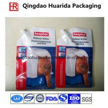 Bolsos de empaquetado de la litera del gato del plástico laminado de la impresión a la medida con el canalón