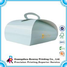 Caja de torta de empaquetado de encargo del papel de aluminio del logotipo de la categoría alimenticia del proveedor de China