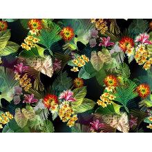 Tissu de tricotage de textile imprimé par fleur de 100% nylon (ASQ095)