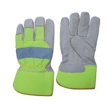 Couro De Grão De Vaca PE Cuff Full Palm Glove-Gn