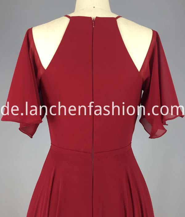 red chiffon dress short