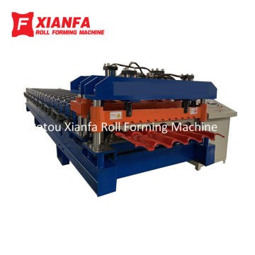 Gaya Eropa Atap Glazed Tile Roll Forming Machine