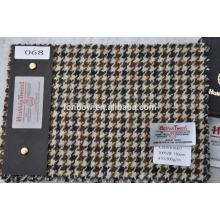 Tecido de tweed de lã de alta contagem de fios vendidos para o Japão