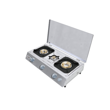Teflon Coated Surface 3 Burner Gas Stove
