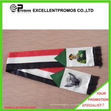 Logo personalizado mejor calidad bufanda del ventilador de fútbol (EP-W9067B)