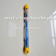 Caña de pescar de empuje y extracción de fibra de vidrio sólida OEM