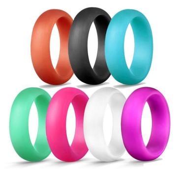 Anel de casamento de silicone personalizado para mulheres