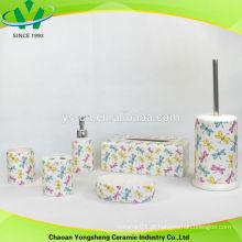 2014 libélula colorida cerâmica banheiro acessórios conjuntos