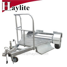 Mobile toilet trailers for porta potty rentals