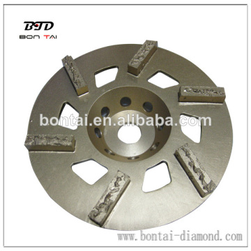 Split segment PCD cup wheel constant sharp PCD edge for effective coating removal