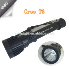 2015 High Power long time xml t6 rechargeable led flashlight