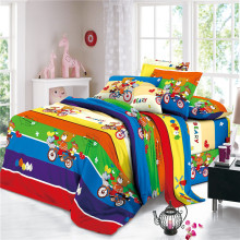 Lightweight Children Polyester Disperse Print Bedding Sheets