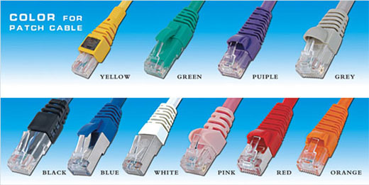 colorful patch cord