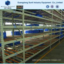 Push Back Heavy Duty Steel Roller Storage Gravity Rack