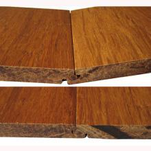Handscraped T & G Carbonizado Sólida Strand Tecido De Bambu Revestimento