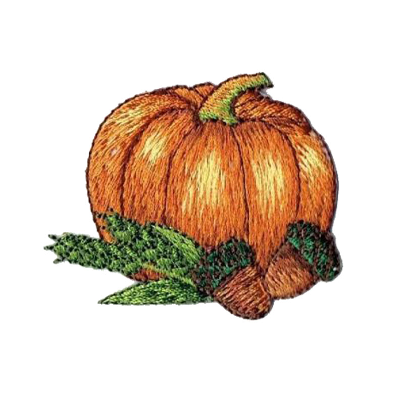Thanksgiving Harvest Pumpkin With Acorns Patch