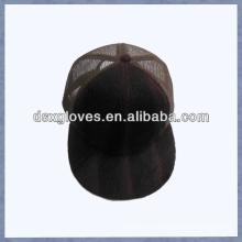 Замшевая бейсбольная кепка с плоской крышкой