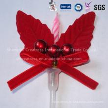 Fantastische Weihnachtskuchen Dekorative Kerze