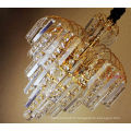 2017 en gros lustre en cristal éclairage d'excellente qualité cristal d'or pour le hall de l'hôtel de manoir