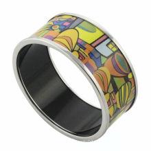 2014 fashion customed colorful house émail bracelet