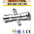 F304/316 Stainless Steel Reducing Cross Press Fittings