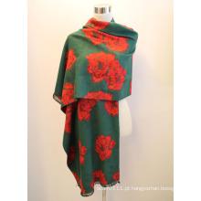 Senhora fashion viscose tecido jacquard franjas xaile (yky4410)