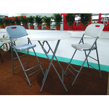 80cm Plastic Folding Cocktail Bar Table, Polular Hot Sale Plastic Table for Event, Banquet, Wedding