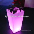 potenciômetro de flor led recarregável com vasos de flores barato/mudança de cor