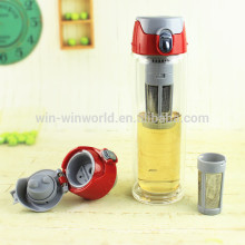 2017 New Arrival Most Popular Products Christmas Valentine's Day Gift Double Wall Tea Infuser Bottle Glass
