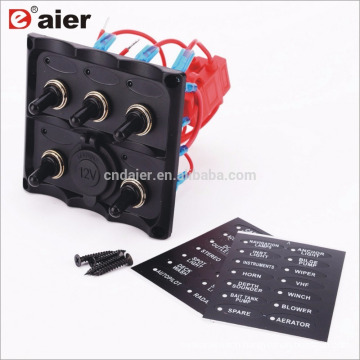 20A 12V Single Pole ON OFF Waterproof Toggle Switch Panel For Boat