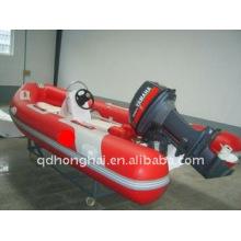2011 caliente costilla inflable barco con fondo de fibra de vidrio barcos / asalto barco / yate inflable barco